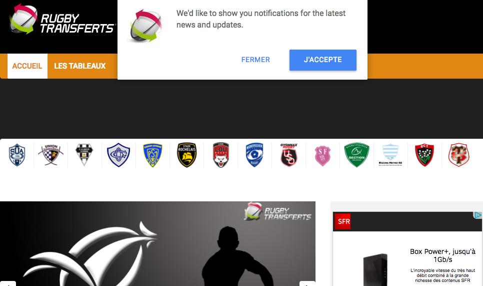 Alertes Rugby Transferts